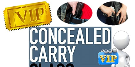 VIP Concealed Carry Weapons License Qualification Class tickets
