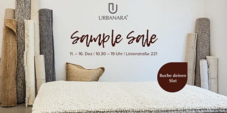 URBANARA Sample Sale // Berlin Mitte Tickets