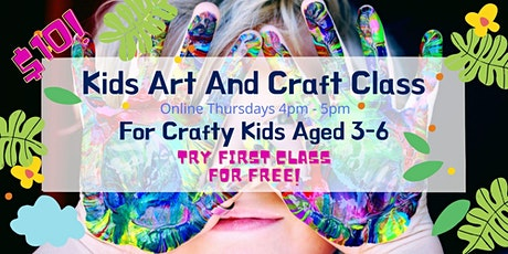 Young Kids Art and Craft Studio (ages 4-6) Thursdays 4pm - 5pm tickets