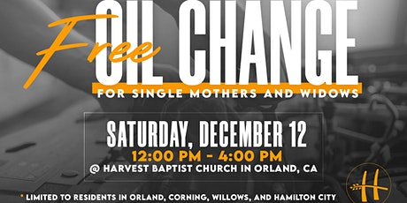Free Oil Change for Single Mothers & Widows tickets