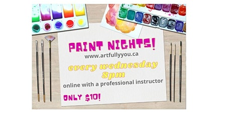 Paint Night online every Wednesday! tickets