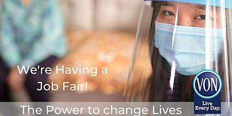 Sarnia, Chatham & Windsor Virtual Job Fair VON 2020 tickets
