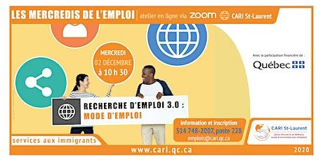 LES MERCREDIS DE L'EMPLOI tickets