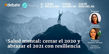 Salud mental: cerrar el 2020 y abrazar el 2021 con resiliencia boletos