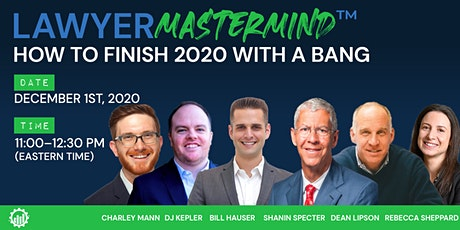 Lawyer Mastermind™ (Rd. 36) | How to Finish 2020 with a Bang tickets