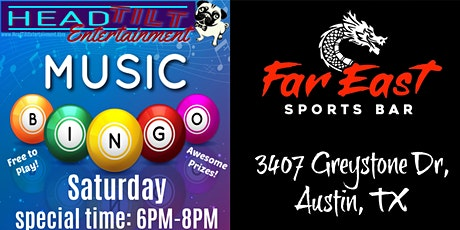 **UPDATED TIME FOR NOV 28TH** Music Bingo at Far East Sports Bar tickets