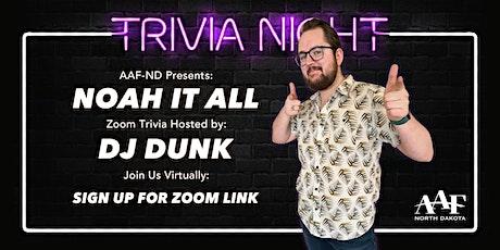 AAF-ND Trivia Night tickets