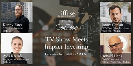 Diffuse ConZoom: TV Show Meets Impact Investing tickets