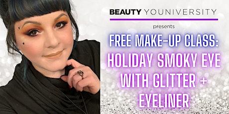 Holiday Smoky Eye with Glitter + Eyeliner tickets