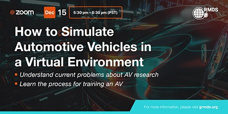 How to Simulate Automotive Vehicles in a Virtual Environment tickets