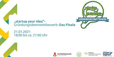 """Das Finale: """"startup your idea""""- Gründungsideenwettbewerb 2021"""