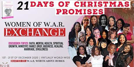 21 Days of CHRISTmas Promises: Women of W.A.R. Exchange tickets