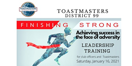 Toastmasters D99 Online Contest & Club Leadership Training (16-01-2021) tickets