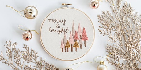 Beginners Modern Embroidery: Christmas Ornaments tickets