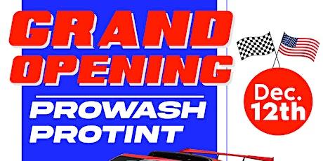 Pro Wash tickets