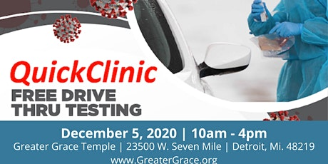 Free Covid Testing At Greater Grace Temple tickets