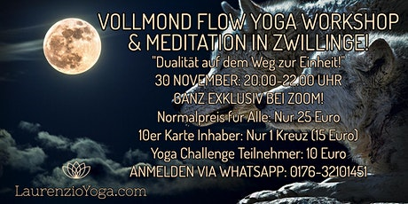 Vollmond Flow Yoga Workshop & Meditation in Zwillinge mit Laurenzio Metzler Tickets