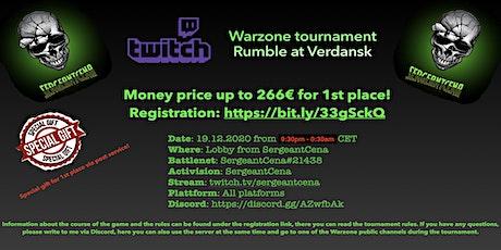 Warzone tournament - Rumble at Verdansk tickets
