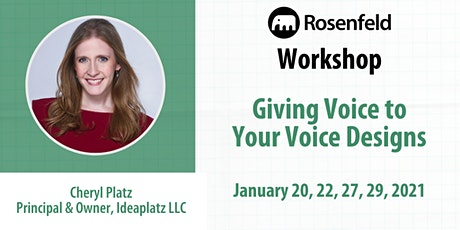 UX Workshop: Giving Voice to Your Voice Designs tickets