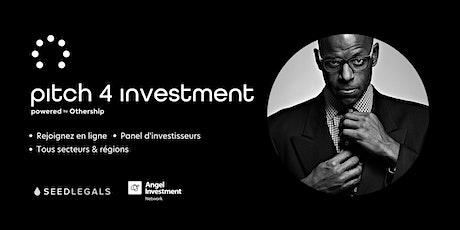 Pitch For Investment - En Ligne billets