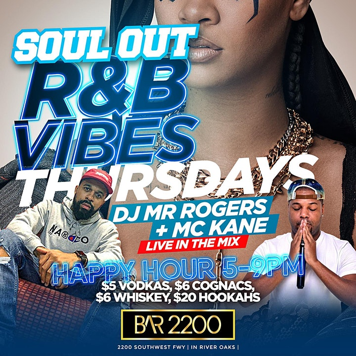 R&B Thursday Vibez @ Bar2200 | Food | Happy Hour | Hookah | Free Entry image