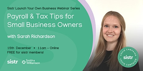 Payroll and Tax Tips for Small Business Owners tickets