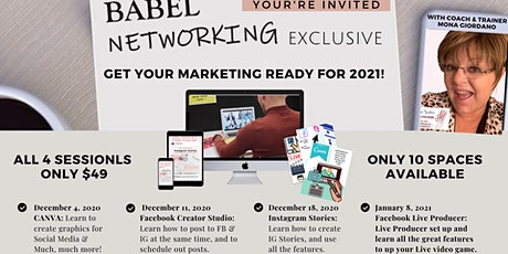 Babel Networking Presents: Is Your Social Media Marketing Ready for 2021? tickets