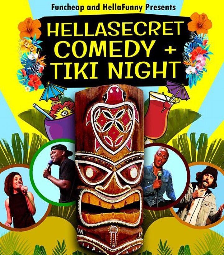 HellaSecret Outdoor Comedy & Tiki Bar Night 2021 image