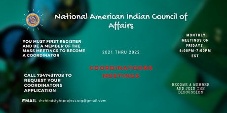 National American Indian Council of Affairs; Coordinators tickets