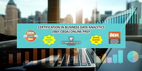 Certification in Business Data Analytics (IIBA-CBDA) Online Prep tickets