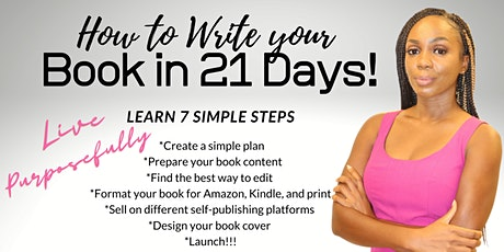 How to write your book in 21 days! tickets