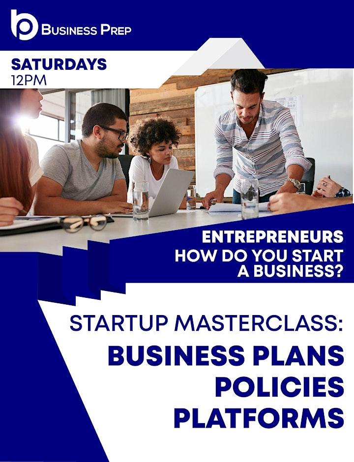 Business Prep - Startup Masterclass image