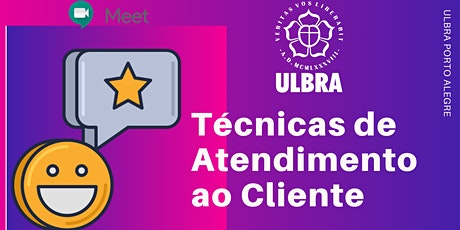 TÉCNICAS DE ATENDIMENTO AO CLIENTE (ONLINE) ingressos