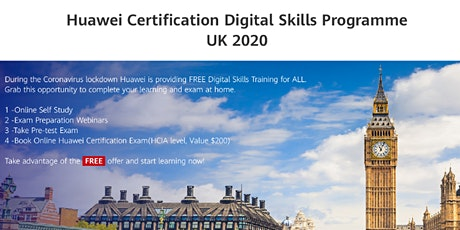 Huawei Certified Digital Skills Program UK 2020 (HCIA-Cloud Computing) tickets