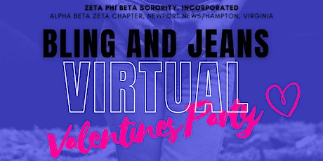 Virtual Bling and Jeans Valentines  Party tickets