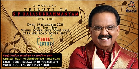Music Concert - A Tribute to SP Balasubrahmanyam (SPB) tickets