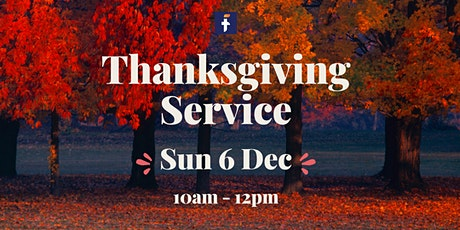 FMC Book My Seat - Thanksgiving Service tickets