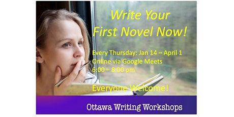 Write Your First Novel Now - Online! tickets