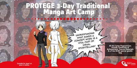 December 3-Day PROTEGE Holiday Manga Art Camp (Second Opening) tickets