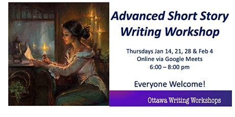 Advanced  Short Story Writing Workshop - Online! tickets