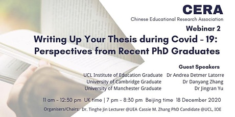 Writing Up Your Thesis During Covid-19 tickets