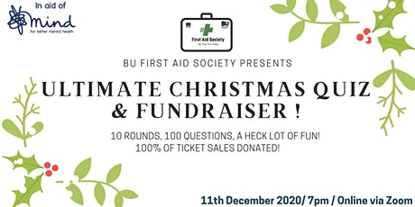 First Aid Society's Ultimate Christmas Quiz & Fundraiser for Mind tickets