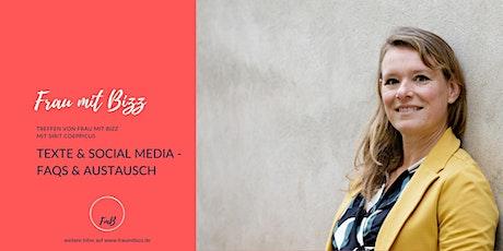Texte & Social Media - Fragen & Antworten|  Frau mit Bizz tickets