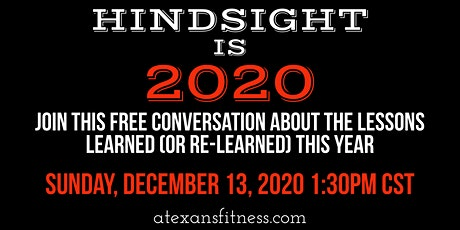 Hindsight is 2020 tickets