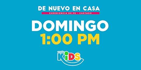 Kids Cartago. Experiencia de Fe  1:00pm entradas