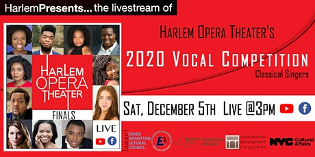 Livestream of the Harlem Opera Theater's 2020 Vocal Competition tickets