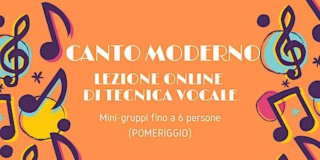 Canto Moderno - Lezione Online di Tecnica Vocale in mini-gruppo GRATUITA biglietti