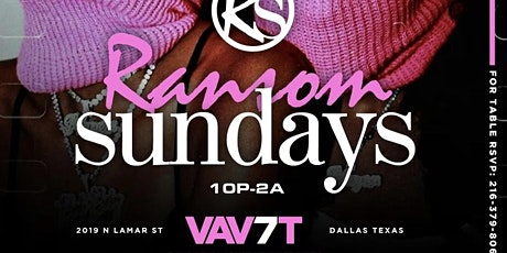 Ransom Sundays at The V A U 7 T tickets
