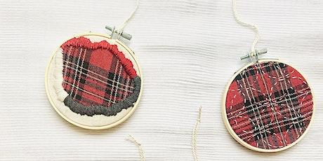 Sashiko + Boro Christmas Tree Decoration Workshop (set of 4) tickets
