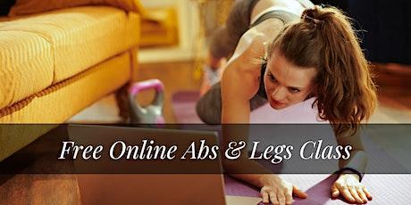 Free Online Abs & Legs Class entradas